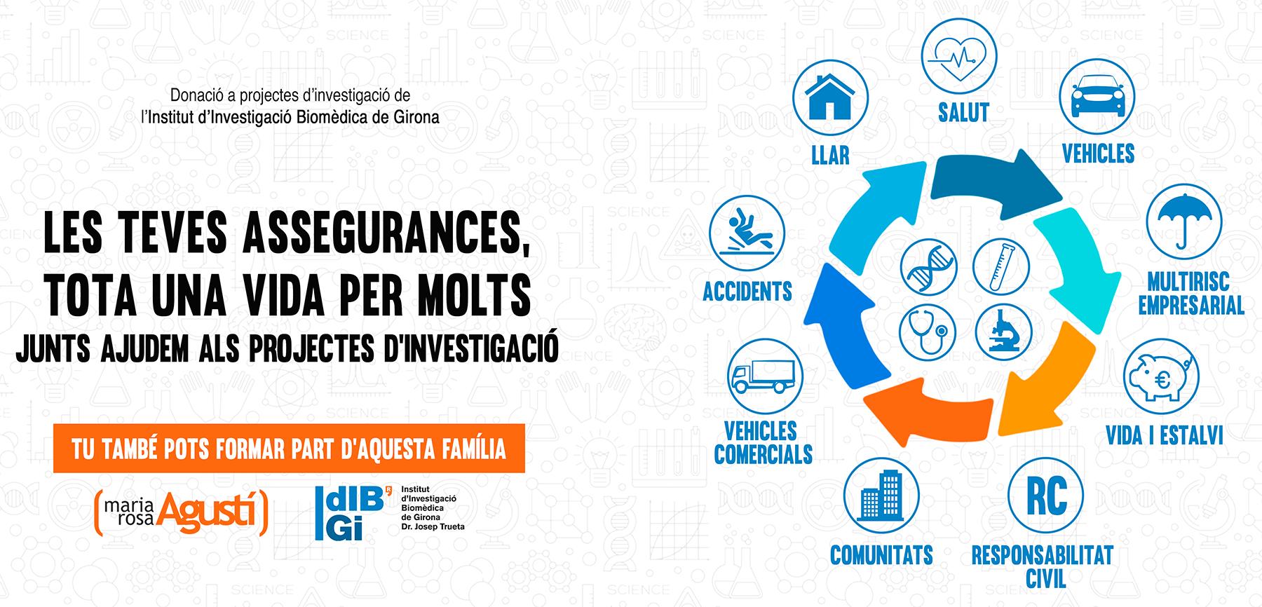 M. Rosa Agusti, agent d'assegurances Allianz a Girona donarà beneficis a Idibgi