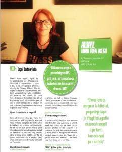 Assegurances M. Rosa Agustí a la revista RES Catalunya